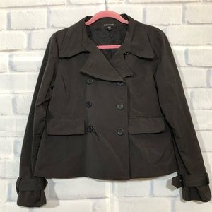 Eileen Fisher Brown Cropped Trench Jacket